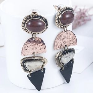 🆕Geometric Boho Acrylic Stone Drop Earrings